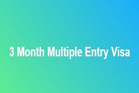 3 Month Multiple Entry Visa