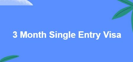 3 Month Single Entry Visa
