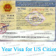 1 Year Visa for US Citizen